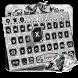 Silver Black Diamond Keyboard Theme by cool wallpaper