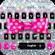 Pink Bow Silver Theme Keyboard