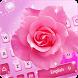 Pink Rose Keyboard Theme by Cool Keyboard Theme Studio