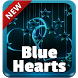 Blue Hearts GO Keyboard by SuperColor Themes