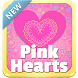 Pink Hearts Keyboard by SuperColor Themes