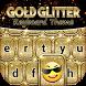 Gold Glitter Keyboard Theme by Thalia Ultimate Photo Editing