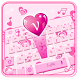Pink hearts love keyboard by Super Keyboard Theme