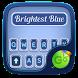 Brightest Blue GO Keyboard Theme by Keyboard Fashion New