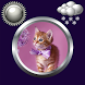 Kitty Clock & Weather Widget by Compass Clock and Weather