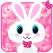 Cute Bunny Pink Rabbit Keyboard Theme by My Lovely Android Themes 2018