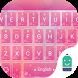 Pink Love Heart Theme Keyboard by Best Keyboard Theme Design