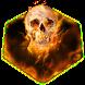 Flaming Skull Keyboard by Premium Keyboard Themes