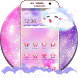 Pink Cute White Cloud Twinkle Theme by Beauty Stylish Theme