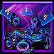 3D Neon DJ Keyboard Theme by Super Cool Keyboard Theme