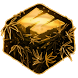 Gold Rasta Weed Keyboard by Premium Keyboard Themes