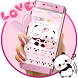 Pink Cute Panda Lovers Theme by Beauty Stylish Theme
