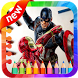 How To Draw : SuperHero *Easly Step* by app4childrens