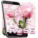 Pink Love Rose Theme by Cool Themes & Wallpapers 2017