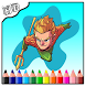 Coloring Aquaman by Coloring Book For Kid