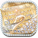 Golden Swan Diamond Keyboard by Echo Keyboard Theme