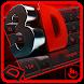 3D Classic Red Black Keyboard Theme by Fashion Cute Emoji