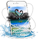 Brunet Swan Love keyboard by stylish android themes