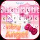 Kitty Angel: Pink and lovely Theme&Emoji Keyboard by happy emoji keyboard theme studio