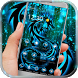 Neon Dragon tattoo fire theme by Android Theme Studio