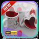 Love Wallpaper Pair Mugs by Sasana Studio