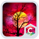 Red Full Moon Theme C Launcher by Pop Locker Team - Hide Secret App