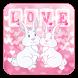 Bunny Love Keyboard by Keyboard Tema Designer