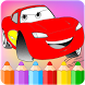 How to color Mcqueen Cars 3 by ColoringFreeGames