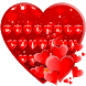 Red Love Heart Keyboard Theme by Super Cool Keyboard Theme