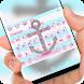 Cute sailor anchor Keyboard by Jubee Theme Studio