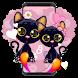 Black Cartoon Cat by Cool Theme Love