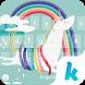 Rainbow Unicorn Kika Keyboard by Kika Theme Studio