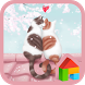 lovely girl cat couple dodol by iconnect for PhoneThemeshop