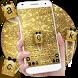 Gold Glitter Bow Keyboard by Keyboard Theme Factory