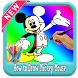 How To draw : Mickey Mouse * Easy Step * by app4childrens