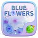 Blue Flowers GO Keyboard Theme by Keyboard Fashion New