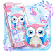 Pink Owl Anime Cute Launcher Theme by Hello Keyboard Theme