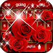 Red Rose diamond keyboard Theme