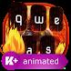 Fire Animated Keyboard Theme by Live Keyboard Themes Animated Emoji