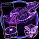 3D Fidget Spinner Neon Hologram Theme by Elegant Theme