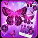Neon Purple Butterfly by Cool Theme Love