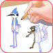 how to draw regular Show by BBOX APPS
