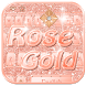 Rose gold Keyboard Theme by Fly Liability Themes