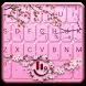 Pink Cherry Blossom Keyboard Theme by Fashion Cute Emoji
