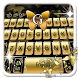 Golden Butterfly Keyboard Theme by 7star princess