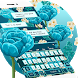 Blue Rose Keyboard Theme by Keyboard Design Paradise