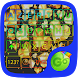 Golden Love Diamond Go Keyboard Theme by dude pps