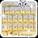 Gold Vivid Diamond Keyboard Theme by 7star princess