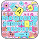 Pink Owl Keyboard by Keyboard Theme Factory