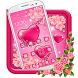 Gleaming Pink Hearts Theme by HD Themes and Wallpaper